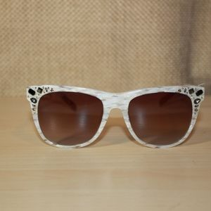 Missoni MI808S03 White Jeweled Sunglasses
